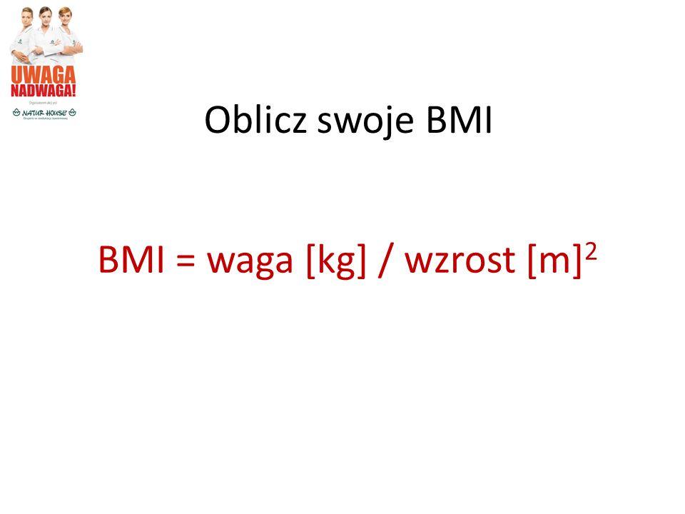 BMI = waga [kg] / wzrost [m]2